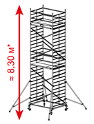 Алюминиевая вышка-тура Krause ProTec XXL 8,3м 911162