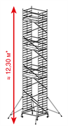 Алюминиевая вышка-тура Krause ProTec XXL 12,3м 911209