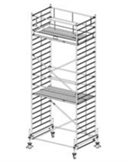 Алюминиевая вышка-тура Krause Stabilo 500 7,4м 745088