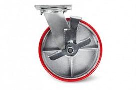 Поворотное большегрузное колесо PU TOR SCpb 80, 200 мм