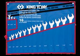 """Набор комбинированных ключей King Tony дюймовых в чехле, 1/4""""-1-1/4"""", 16 предметов 1216SRN"""
