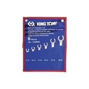 Набор разрезных ключей King Tony в чехле, 8-22 мм, 6 предметов 1306MRN