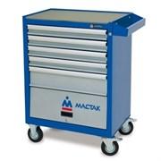 Инструментальная тележка MACTAK Оптима, 5 полок и отсек, синяя 522-05581MB