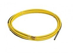 Тефлоновый направляющий канал Fubag 4,60 м, диам. 1,6 желтый