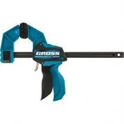 Быстрозажимная реечная струбцина Gross пистолетного типа 600мм 20706