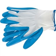 Полиэфирные перчатки Сибртех с синим нитрильным покрытием L 67862