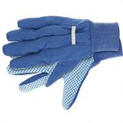 Рабочие х/б перчатки Сибртех с ПВХ точкой XXL 67766