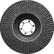 Лепестковый торцевой круг Сибртех Р 80, 125x22,2 мм 74085