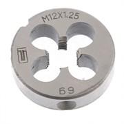 Плашка Сибртех М12x1,25 мм 77030