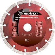 Сегментный отрезной алмазный диск Matrix Professional 180x22,2 мм 73175