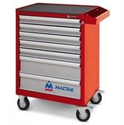Инструментальная тележка MACTAK Оптима, 7 полок, красная 521-07581MR
