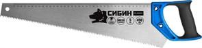 Ножовка по дереву Сибин 450 мм, 5 TPI (4,5 мм) 15055-45