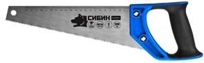 Компактная ножовка по дереву Сибин Тулбокс 300 мм, 9 TPI (3 мм) 15056-30