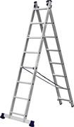 Универсальная двухсекционная лестница Сибин 2x8 38823-08