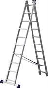Универсальная двухсекционная лестница Сибин 2x10 38823-10