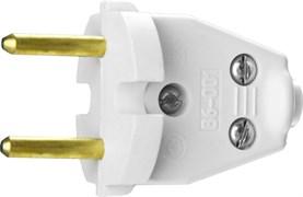 Разборная электрическая вилка Сибин 6А/220В, белая 55152-W