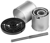Набор кольцевых коронок с карбид-вольфрамовой крошкой Kraftool Expert 33-73 мм 3340_z01