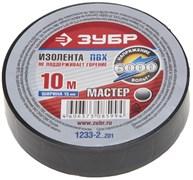 Черная изолента Зубр Мастер ПВХ 15мм х 10м 1233-2_z01