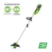 Аккумуляторный триммер Greenworks G40LTK2 2101507UA