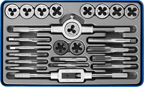 Набор метчиков и плашек Зубр Профессионал M5-M12, 24 предмета 28110-H24