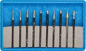 Набор мини-насадок Зубр Профессионал с алмазным напылением 10 предметов 33383-H10