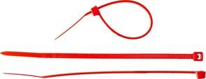 Красная кабельная нейлоновая стяжка Зубр КС-К1 2,5x150 мм, 100 шт 309040-25-150