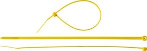 Желтая кабельная нейлоновая стяжка Зубр КС-Ж1 2,5x150 мм, 100 шт 309050-25-150