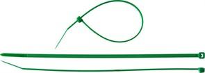 Зеленая кабельная нейлоновая стяжка Зубр КС-З1 2,5x100 мм, 100 шт 309060-25-100