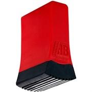 Двухкомпонентный башмак траверсы Новая Высота 61х20 в сборе, красный/чёрный 3920006