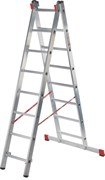 Алюминиевая двухсекционная профессиональная лестница NV 322 2х15 Новая Высота 3220215