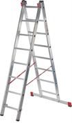 Алюминиевая двухсекционная профессиональная лестница NV 322 2х8 Новая Высота 3220208
