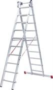 Алюминиевая двухсекционная индустриальная лестница NV 522 Новая Высота 2х16 5220216