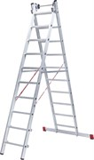 Алюминиевая двухсекционная индустриальная лестница NV 522 Новая Высота 2х18 5220218