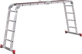 Алюминиевая лестница трансформер Новая Высота NV 333 4х4 с помостом 3330404
