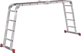 Алюминиевая лестница трансформер Новая Высота 2х3+2х4