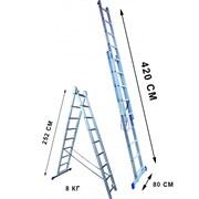 Лестница двухсекционная Стандарт 9 ступеней