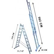 Лестница двухсекционная Стандарт 12 ступеней