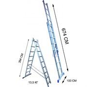 Лестница двухсекционная Стандарт 14 ступеней