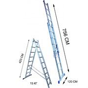 Лестница двухсекционная Стандарт 15 ступеней