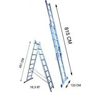 Лестница двухсекционная Стандарт 16 ступеней