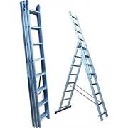 Лестница трехсекционная Стандарт 9 ступеней