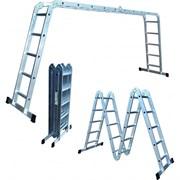 Универсальная лестница трансформер Стандарт 4x4 с малым замком