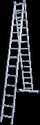 Алюминиевая двухсекционная лестница Новая Высота NV 122 2x14 1220214