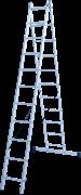 Алюминиевая двухсекционная лестница Новая Высота NV 122 2x11 1220211