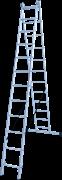 Алюминиевая двухсекционная лестница Новая Высота NV 122 2x12 1220212