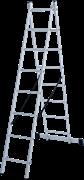 Алюминиевая двухсекционная лестница Новая Высота NV 122 2x8 1220208