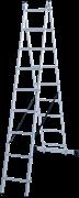Алюминиевая двухсекционная лестница Новая Высота NV 122 2x9 1220209