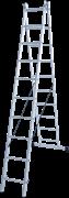 Алюминиевая двухсекционная лестница Новая Высота NV 122Y 2x10 1220210Y