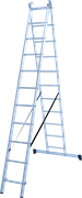 Алюминиевая двухсекционная лестница Новая Высота NV 122Y 2x11 1220211Y
