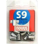 Стальные потайные заклепки Novus тип S9/M6х14,5 10 шт